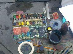Artist's tool near Duomo