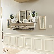 Wall Display. (Orig. Pin: Molding to Create Fake Wainscoting Tutorial)
