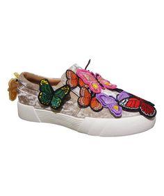 Beige Butterfly Vaness Slip-On Sneaker #sneakers  #zulily