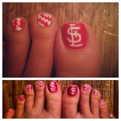 St. Louis Cardinal Nails  #baseball #cardinals #nails #stlcardinals #saintlouiscardinals