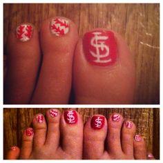 St. Louis Cardinal Nails  #baseball #cardinals #nails