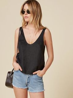 The Lyle Top  https://www.thereformation.com/products/lyle-top-black?utm_source=pinterest&utm_medium=organic&utm_campaign=PinterestOwnedPins