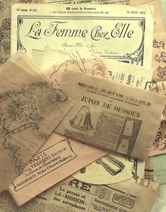 French catalogues from the early 1900's