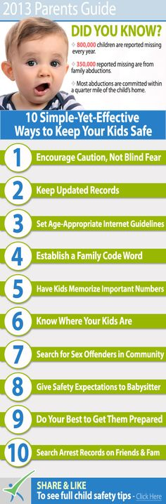 Are you always worried about your kids and how to keep them safe? Here is some 10 simple tips to keep them safe. #kids #children #safety