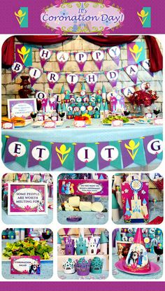 Frozen Birthday Party Package - Coronation Day Printable Matches Party Stores Frozen Decorations and Supplies Three Easy Steps! 1) Purchase!