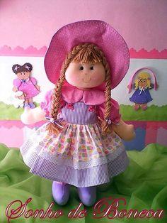 boneca com molde