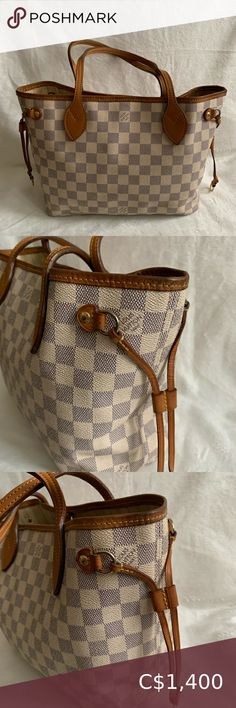 Check out this listing I just found on Poshmark: AUTHENTIC LOUIS VUITTON DAMIER AZUR NEVERFULL PM. #shopmycloset #poshmark #shopping #style #pinitforlater #Louis Vuitton #Handbags