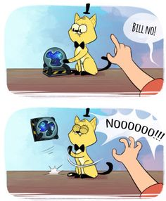 Gravity Falls | Cat Bill with rift>>> Bad kitty!