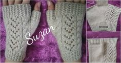 Making Half Gloves with Hair Braid Technique Knitted Gloves, Fingerless Gloves, Half Gloves, Baby Booties Free Pattern, Beaded Cross Stitch, Moda Emo, Arm Warmers, Braided Hairstyles, Knit Crochet
