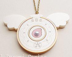 Hana's Compact Necklace from Ojamajo Doremi Dokkan Fanart Inspired for Magical Girl and Mahou Kei Fan