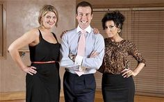 Dancing partners: Bryony Gordon with Strictly Come Dancing couple Anton du Beke and Nancy Dell'Olio - We'll keep this strictly professional ...
