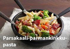 Parsakaali-parmankinkkupasta, Resepti: Valio #kauppahalli24 #resepti #parsakaali #parmankinkkupasta #pasta #parmankinkku