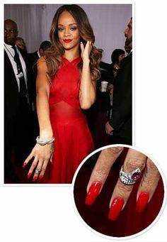 Rihanna Nail Art At Grammy's 2013