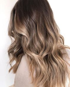 Once you have decided the technique of balayage you are left with the color and the amount to choose from. It can end up being either too much ( in a lot of cases ) or you may think not enough. The… hair Mushroom balayage Brown Ombre Hair, Light Brown Hair, Ombre Hair Color, Hair Color Balayage, Cool Hair Color, Brown Hair Colors, Dark Hair, Beige Hair Color, Brown Hair With Blonde Balayage