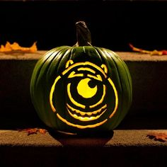 Mike Wazowski Pumpkin-Carving Template