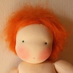 Fluffy doll wig tutorial #waldorf doll