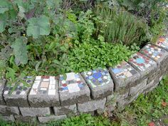 mosaic bricks-gotta put this somewhere in the garden or on the nature trail! Planter Beds, Planters, Mosaic Ideas, Wordpress, Garden Planters, Planter Boxes, Plant, Flower Pots, Pot Holders