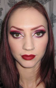 Glitter is my crack...: Purple and Red Dramatic Valentine's Day Eye Makeup Tutorial