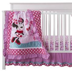 Disney Minnie Mouse 3pc Crib Set