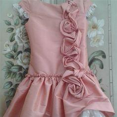 Vestido de seda salvaje en rosa. Cubete´s Kids - www.cubeteskids.es