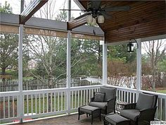 I have this deck but now i want a screened in porch