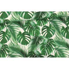 Jersey - Blätter - Palmenwedel - abby and me - Urban Jungle - Weiß