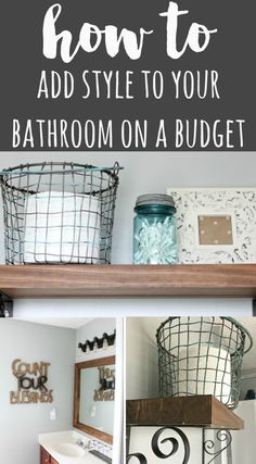 How To Add Style To Your Bathroom On A Budget