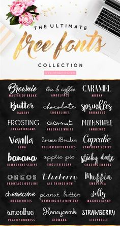 The Ultimate Free Fonts Collection - Collection . - The Ultimate Free Fonts Collection – - Fancy Fonts, Cool Fonts, Pretty Fonts, New Fonts, Polices Cricut, Photoshop, Digital Scrapbook Paper, Web Design, Free Logo Design