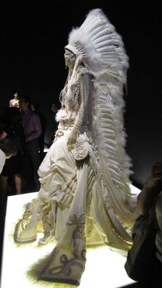 John Paul Gaultier - Montreal 2011  Want this headpiece!!!!  You know, to wear around the house  : )