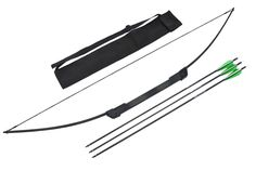 Last day to order for delivery by 12/24/2016 is 12/20/2016! $69.95 The compact take-down Spectre II survival bow and arrow set will be ideal for any survival hunting needs at an affordable price. The fiberglass/resin limbs assemble together by slipping them into the bracket mounted to the riser. Assembly requires no tools. Just string the bow and its ready to shoot. The take down bow fits nicely into the pouch / quiver with the 3 arrows.Product Features•...