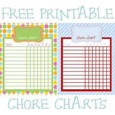 i should be mopping the floor: Friday's Freebie: Printable Chore Charts