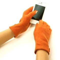 New Ladies Winter Fancy Cute Double Button Dressy Wool Magic Touch Screen Smartphone Thumb Index Technology Glove Outdoor Indoors Gloves with Faux Fake Leather Trim Magic Touch Glove for Tablet PC, Ipods, Ipads, Iphones, Laptops, Touchscreens, PDA and so much more New Technology, it's amazing! Keep your glove on and adjust your electronic devices. Warm and Comfortable Super soft & warm. New and improved quality and fit...