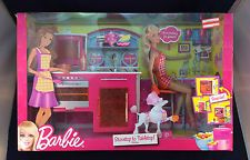 "2011 Barbie ""Stovetop To Tabletop Kitchen"" and Doll Set Factory Sealed"