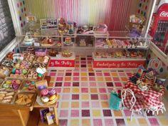 Pasteleria miniatura bakery dollhouse cupcakes cakes macaroon