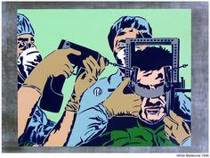 White medecine. 1998 Stencil Graffiti, Stencils, Artworks, Street Art, Joker, Fictional Characters, Art Pieces, Jokers, The Joker