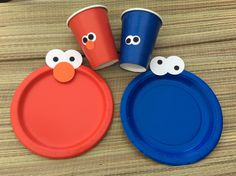 Elmo Birthday Party set/party plates and cups/party plates/Elmo plates/  sc 1 st  Pinterest & TheRetroInc on Etsy | Pinterest | Sesame street party Sesame ...