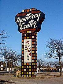 Monterey Center sign in Lubbock, Texas