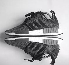 Adidas Nomad Black And Grey Shoes Nike Heels, Adidas Shoes, Adidas Nmd, Me Too Shoes, Men's Shoes, Shoe Boots, Shoes Sneakers, Grey Shoes, Best Sneakers