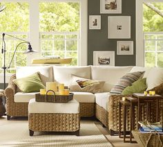 Seagrass Sectional... I'd really like this to be our next couch, probably a sage green rather than cream