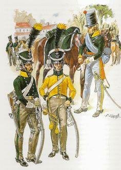 DRAGONES BELGAS ,1815.