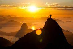 Corcovado, com Pão de Açúcar ao fundo, Rio de Janeiro, Brasil