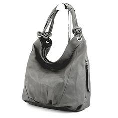 modamoda de - ital. Handtasche Damentasche Schultertasche Ledertasche Tasche Nappaleder Z18, Präzise Farbe:Grau - http://herrentaschenkaufen.de/modamoda-de-made-in-italy/grau-modamoda-de-ital-handtasche-damentasche-z18
