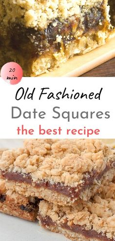 Best Newfoundland Date Squares – this traditional Canadian recipe for date bars with coconut oatmeal crumble topping is so easy to make and the date oatmeal crumble bars turn out perfect every time. This authentic old-fashioned Canadian recipe for matrimonial cake can easily be made refined sugar-free and gluten-free by using xylitol, coconut sugar, and gluten-free flour! The best date squares ever - and so much better than Starbucks - or even granny's! #bars #dessert Canadian Dishes, Canadian Recipes, Canadian Food, Coconut Oatmeal, Coconut Sugar, Oatmeal Crumble Topping, My Favorite Food, Favorite Recipes, Newfoundland Recipes