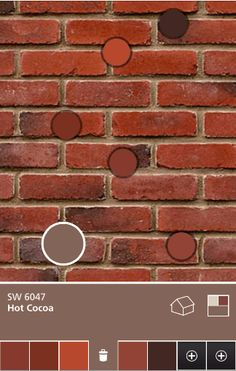 exterior house color schemes with red brick Brick Paint Colors, Brick House Colors, House Exterior Color Schemes, Exterior Paint Colors For House, Paint Colors For Home, Exterior Colors, Red Brick Paint, Paint Colours, Exterior Trim