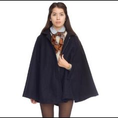 American Apparel Wool Cape Coat