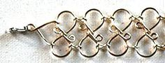 Bracelet, but would make a fab collar as well  Wire jig, twisted wire