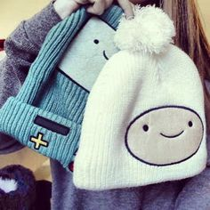 Adventure Time - cute beanies with single pom, emo hats, modern style. Hipster Fashion, Trendy Fashion, Fashion Outfits, Hipster Style, Trendy Style, Fashion Goth, Steampunk Fashion, Victorian Fashion, Cute Beanies