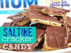 This Saltine Cracker Candy is seriously so addicting! With only 4 ingredients it is some of the easiest candy you will make!