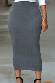 New 2017 Summer novelty Floor-Length skirt Sexy Women 3 Colors Solid High-waisted Bodycon Maxi Skirt faldas largas mujer Long Black Pencil Skirt, Pencil Skirt Casual, Pencil Skirt Outfits, High Waisted Pencil Skirt, Pencil Skirts, Pencil Dresses, Midi Skirts, Long Skirts, Casual Skirts