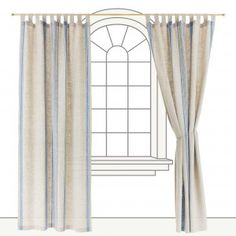 Utena Curtain, 100% linen, Urbanara